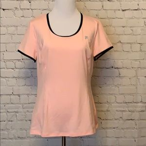 FILA Pink With Black Workout Top NWOT